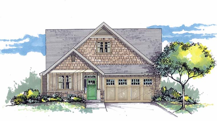 Bungalow Craftsman Traditional House Plan 44520 Elevation