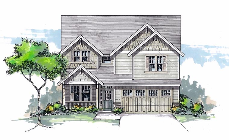Craftsman Traditional House Plan 44602 Elevation