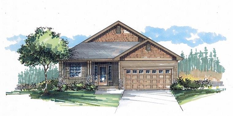 Cottage Craftsman Traditional House Plan 44605 Elevation