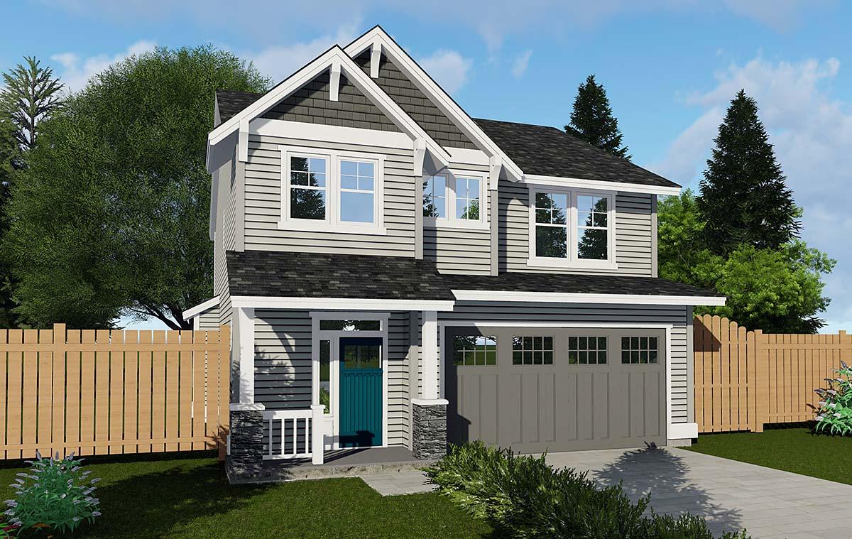 Craftsman Traditional House Plan 44606 Elevation