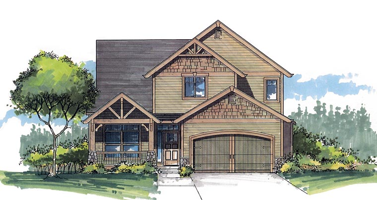 Craftsman Traditional House Plan 44613 Elevation