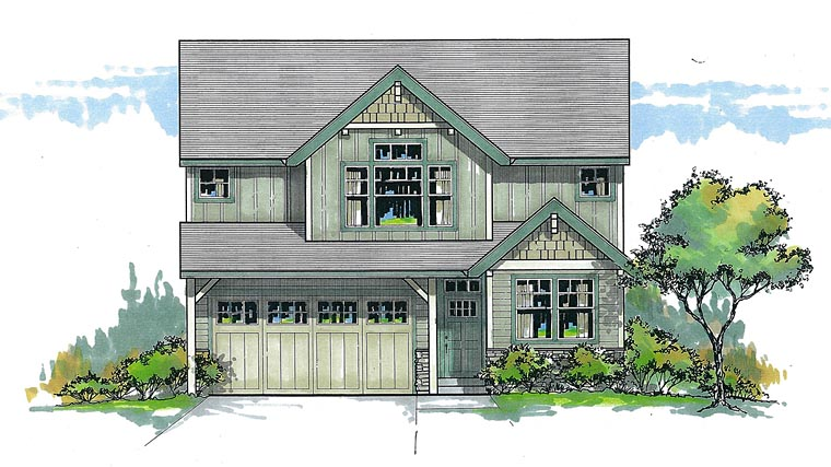 Craftsman Traditional House Plan 44616 Elevation