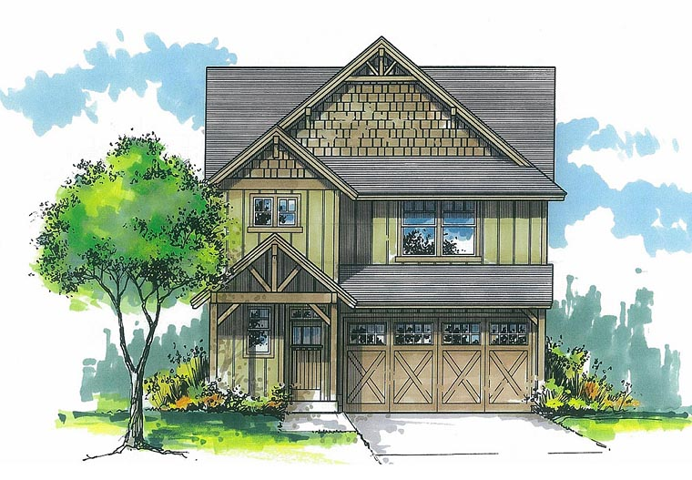 Cottage Country Craftsman House Plan 44641 Elevation