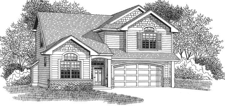 European Traditional House Plan 44654 Elevation