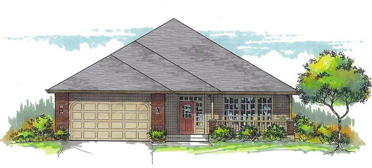 Ranch Southern Traditional House Plan 44681 Elevation