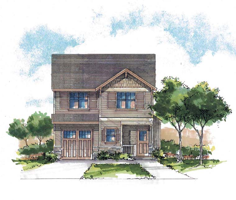 Country Craftsman Farmhouse Southern Traditional House Plan 44682 Elevation
