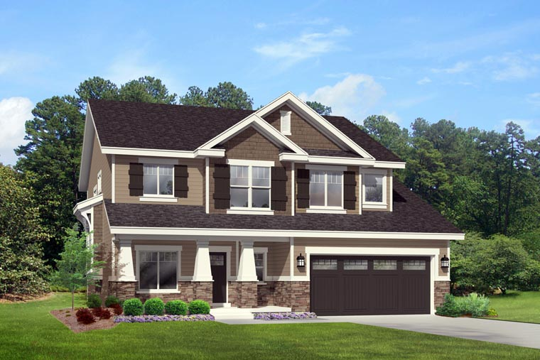 Elevation of Country   Craftsman   Southern   Traditional   House Plan 44818