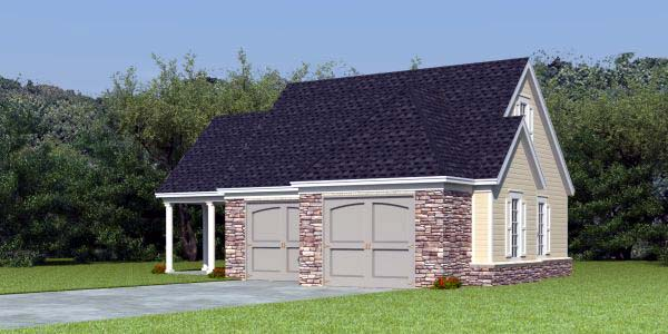 2 Car Garage Apartment Plan Number 44905