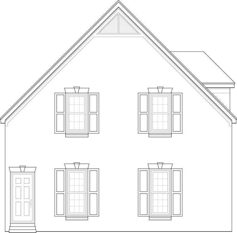 Garage Plan 44907 Rear Elevation