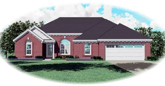 Ranch House Plan 44934 Elevation