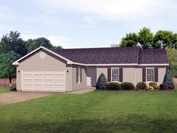 Ranch Traditional House Plan 45100 Elevation