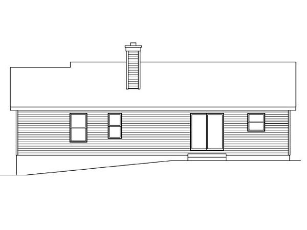 Ranch Traditional House Plan 45100 Rear Elevation