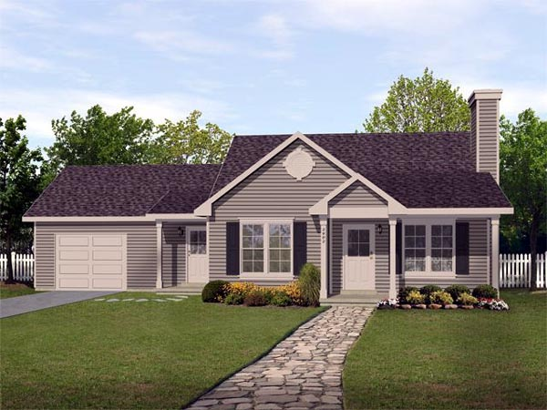 Ranch Traditional House Plan 45102 Elevation