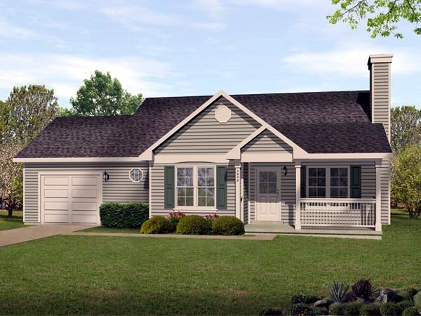 Ranch Traditional House Plan 45105 Elevation