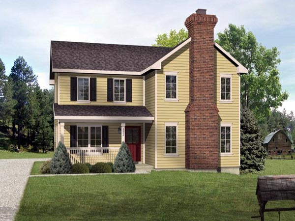 Country Traditional House Plan 45106 Elevation