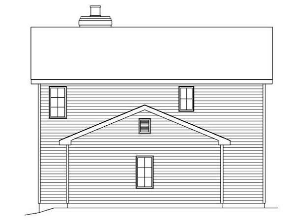 Country Traditional House Plan 45106 Rear Elevation