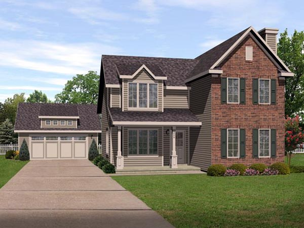 Traditional House Plan 45109 Elevation