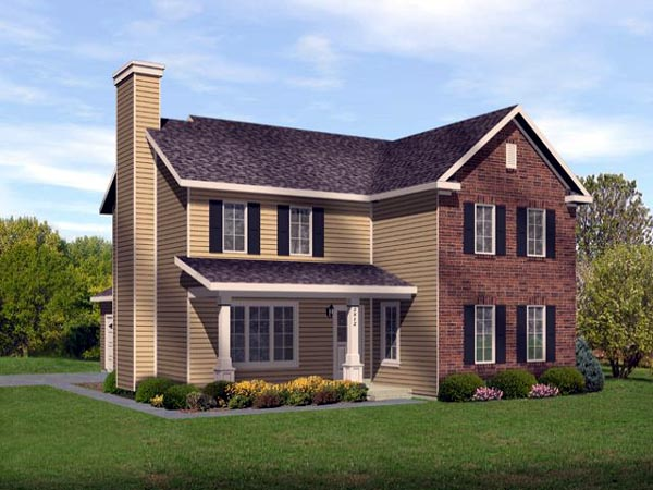 Traditional House Plan 45110 Elevation