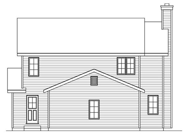 Traditional House Plan 45110 Rear Elevation