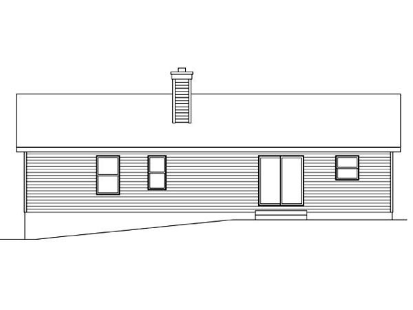 Ranch Traditional House Plan 45112 Rear Elevation