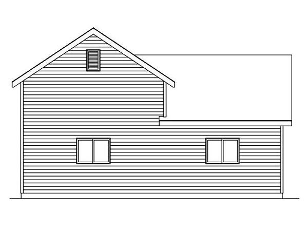 Garage Plan 45118 Rear Elevation