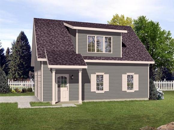 Country, Traditional 2 Car Garage Plan 45119 Elevation
