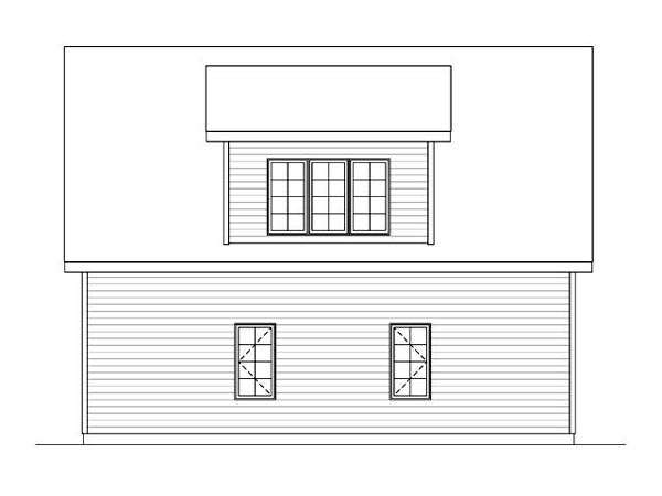 Country, Traditional 2 Car Garage Plan 45119 Rear Elevation