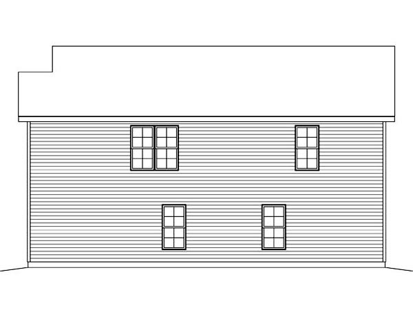 Garage Plan 45120 Rear Elevation