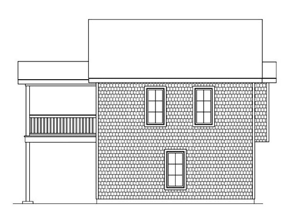 Garage Plan 45121 Rear Elevation