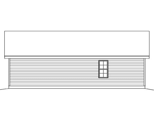 Rear Elevation of Plan 45123