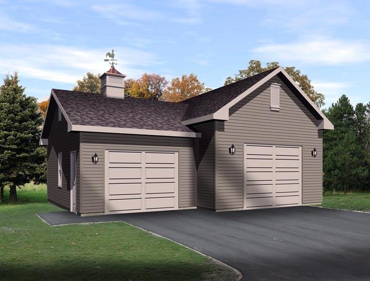 Garage Plan 45130 Elevation