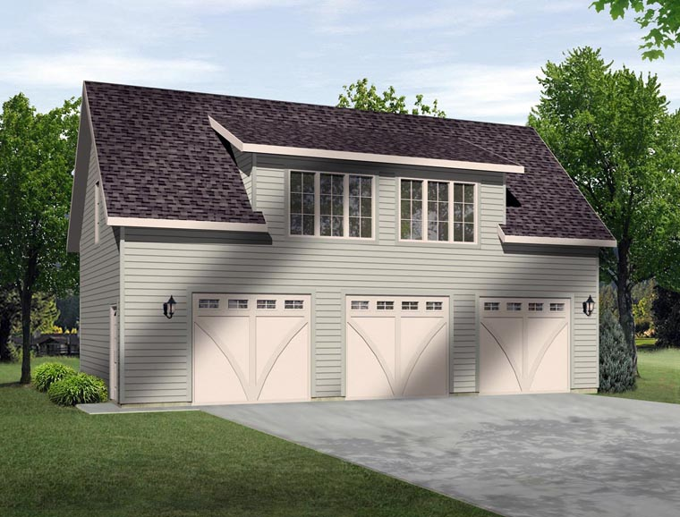 3 Car Garage Plan Number 45131