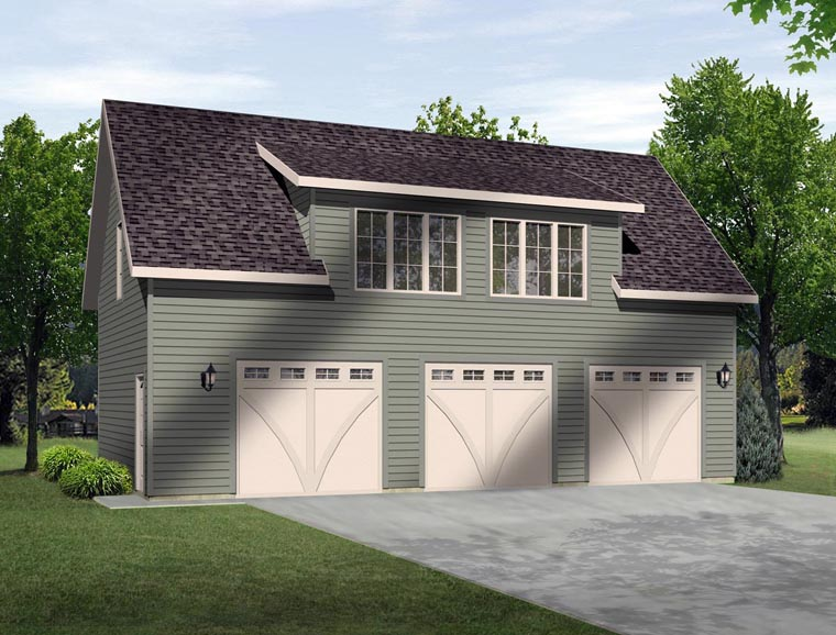 Garage Plan 45135 Elevation