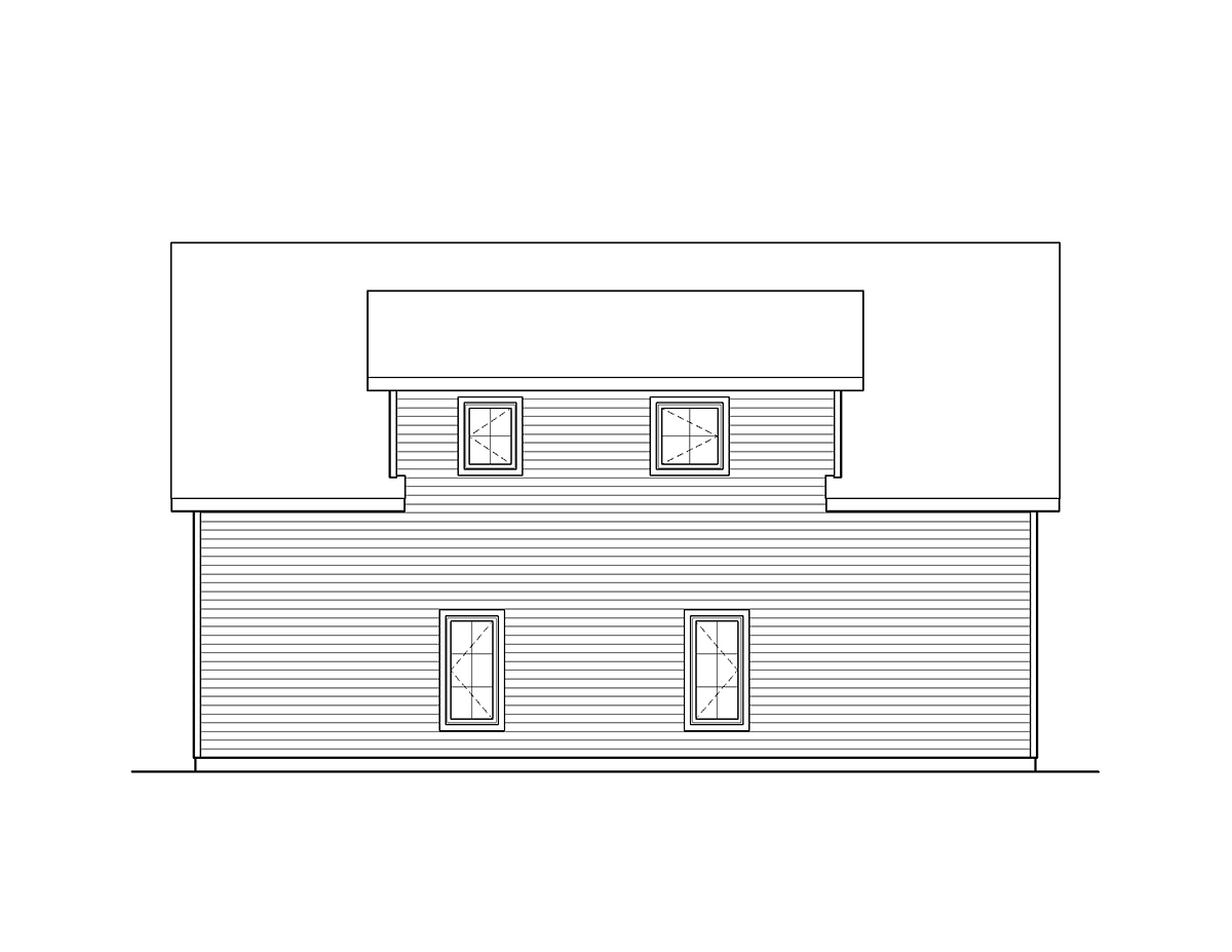 Garage Plan 45135 Rear Elevation