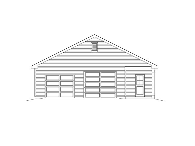 2 Car Garage Plan 45136 Picture 3