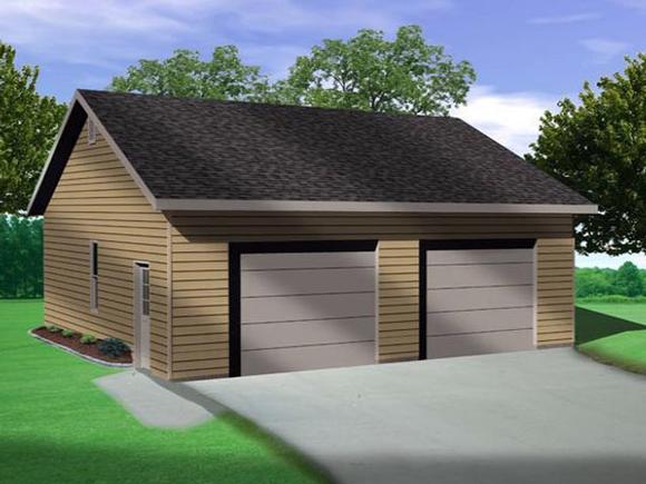 2 Car Garage Plan 45138 Elevation