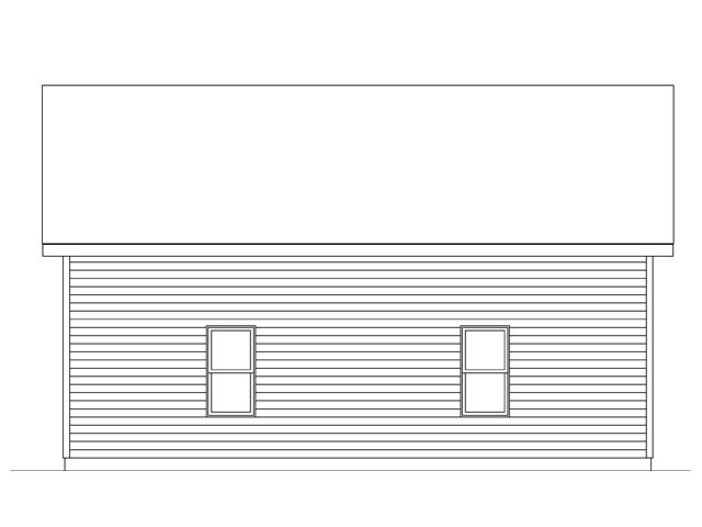 Rear Elevation of Plan 45138