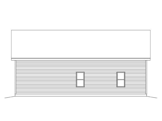 Garage Plan 45142 Rear Elevation
