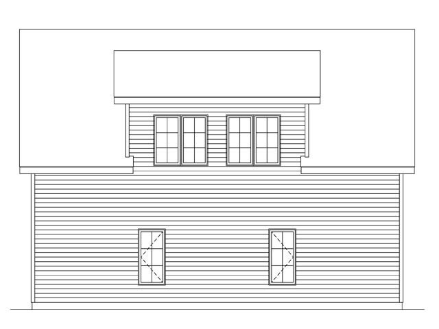 Rear Elevation of Plan 45145