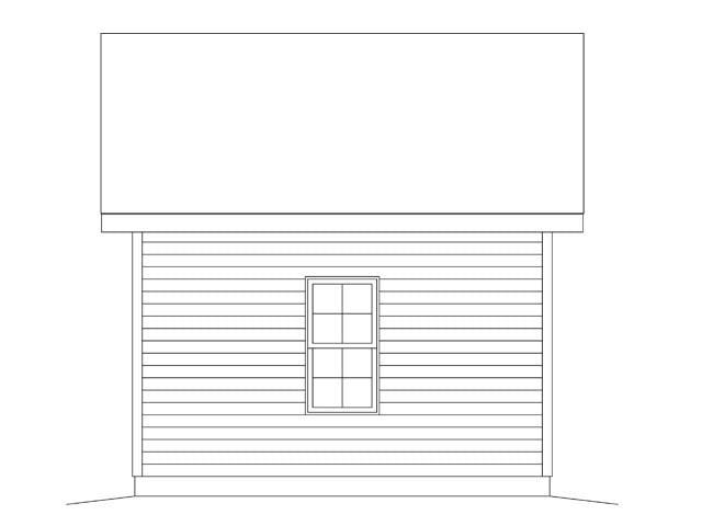 1 Car Garage Plan 45147 Rear Elevation