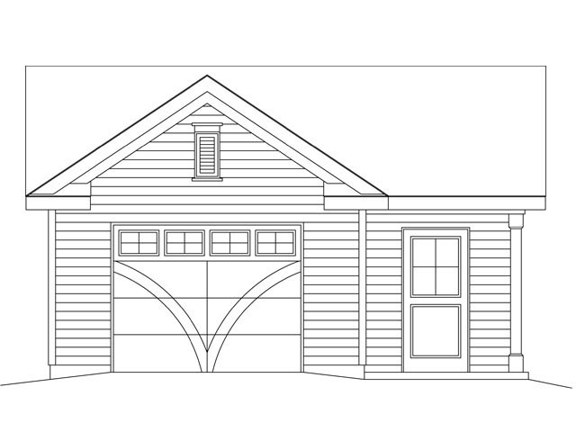 1 Car Garage Plan 45148 Picture 3