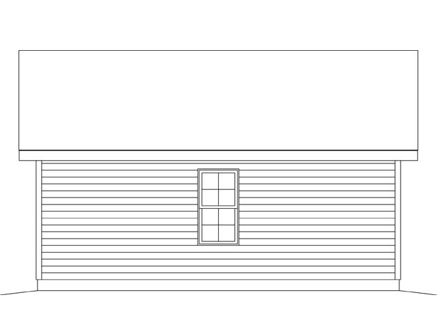 1 Car Garage Plan 45148 Rear Elevation