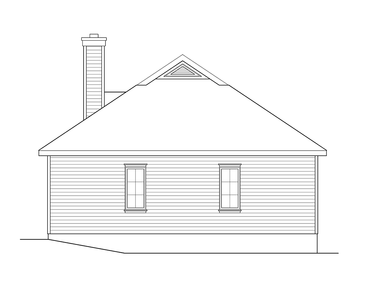 Country House Plan 45155 Rear Elevation