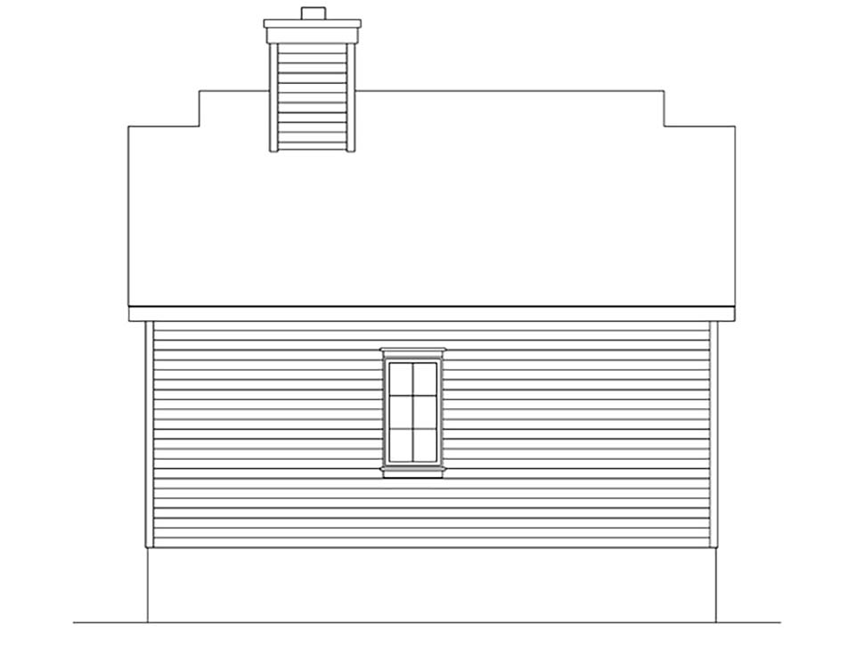 Bungalow Cottage Rear Elevation of Plan 45163