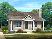 Plan Number 45168 - 692 Square Feet