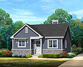 Plan Number 45185 - 691 Square Feet