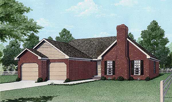 Traditional House Plan 45201 Elevation