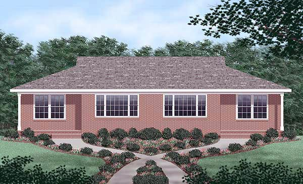 Multi-Family Plan 45204 Elevation
