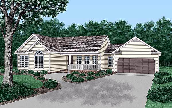 Ranch Traditional House Plan 45210 Elevation