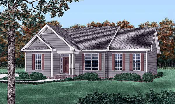 Traditional House Plan 45211 Elevation